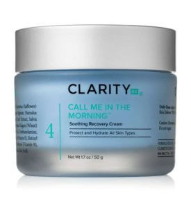 ClarityRx Call Me in the Morning Soothing Recovery Cream jar