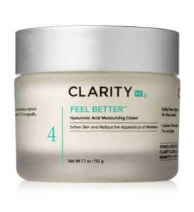 ClarityRx Feel Better Hyaluronic Acid Moisturizing Cream jar