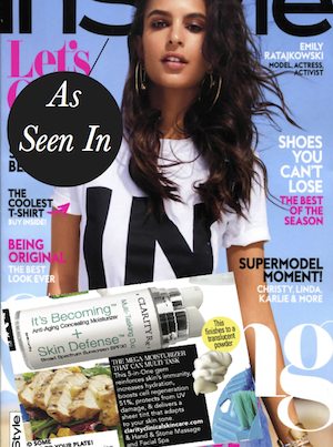 InStyle Magazine cover with article clipping