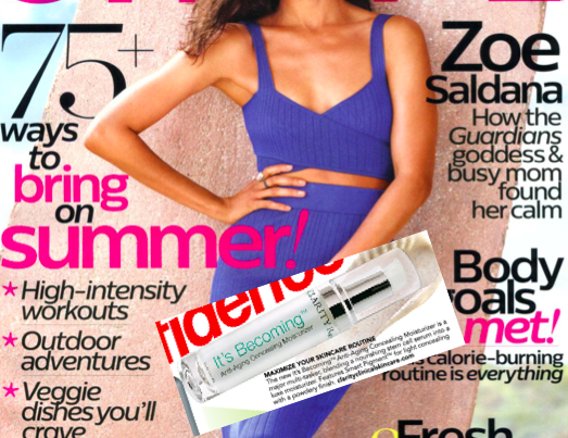 Shape Magazine cover with article clipping